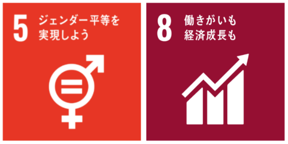 SDGs5番ジェンダー平等を実現しようとSDGs8番働きがいも経済成長も