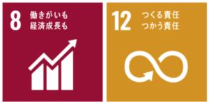 SDGs8番働きがいも経済成長もとSDGs12番つくる責任つかう責任