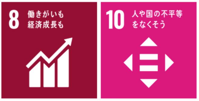 SDGs8番働きがいも経済成長もとSDGs10番人や国の不平等をなくそう