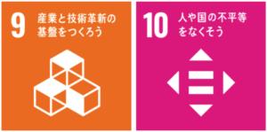 SDGs9番産業と技術革新の基盤をつくろうとSDGs10番人や国の不平等をなくそう