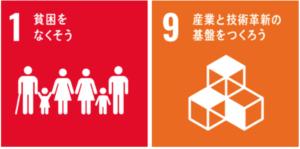 SDGs1番貧困をなくそうとSDGs9番産業と技術革新の基盤をつくろう