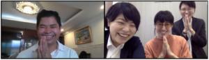 カンボジアNGOバンドン氏とBAMBOO SUZUKI鈴木さんとの初回オンライン面談の様子